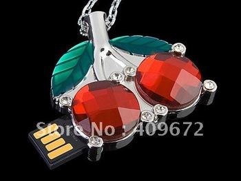 retail genuine 2G/4G/8G/16G/32G usb drive thumb drive usb flash drive memory jewelry sweet cherry Free shipping+Drop shipping