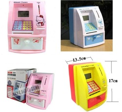 Free shipping!! The fifth generation ATM automatic deposit machine saving cans immortal voice piggy bank coin box(China (Mainland))