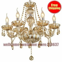 Luxury Large Crystal Chandelier fashion Large Chandelier 6  lights for living room lights lighting with Candle Bulb
