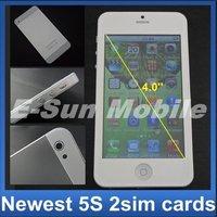 Мобильный телефон MTK6577 Android 4.0, 4.0inch 5S I5 5G smart phone H2000 with WIFI GPS dual Core 1Ghz