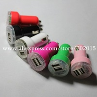 Dual usb car charger mobile phone car charger for Apple  iphone 3 4 4S ipad 1 2 3 Free shipping