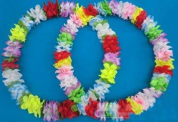 80cm Party/Christmas Supplies Hawaiian Flower Lei Hard Coil Wire Garland/Hawaii Wreath Cheerleading Products Hawaii HH8050