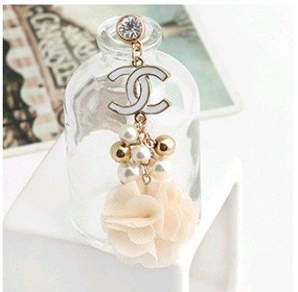 MINI ORDER USD10(mixed) Free shipping Earphone Ear Cap Dock 2c flower 3.5mm Dust Plug  for SAMSUNG NOKIA HTC IPONE