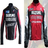 Free Shipping! Nice Quality Suzuki Men Oxford Polyester Waterproof Windproof Racing Jackets S To Xl To XXL