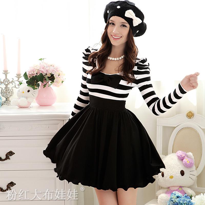 Пышные короткие платья с рукавами