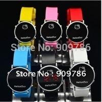 Hello kitty LED cute  quartz children men woman silicone digital watch multi colors to be choose