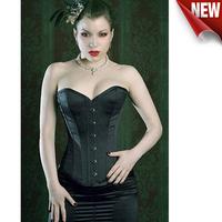 Корректирующий женский топ Sexy 1 Set Dropship Bustiers Black Satin Embroidered Corset Overbust Corsets Thang SIZE S M L XL XXL 3XL 4XL 5XL 6XL LB4231