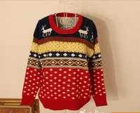 freeshipping brand new pullovers sweater christmas deer style autumn and winter