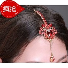the bride accessories hair alloy gold silver marriage red hair accessory 2032
