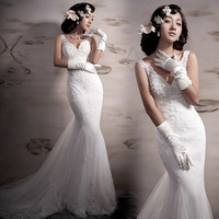 Royal princess French lace the Korean Korean fishtail tailing bride wedding dress 2012 latest 5161