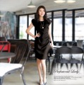 2013 New Fashion Casual Women Chiffon Dresses Career Cute Novelty Skinny Slim ladies Dress Knee-length High Quality