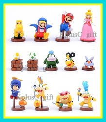 Wholesale - Retail packaging 4 generation PVC 13 Super Mario Bros Luigi Action Figures Xmas Gift 13pcs(China (Mainland))