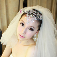 Silver rhinestone flower the bride accessories hair accessory marriage accessories earrings necklace set