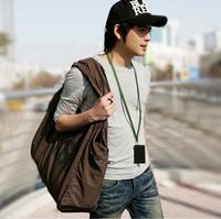 Free shipping Personalized fashion men's shoulder handbag casual large travel bags