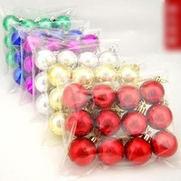 48pcs/lot 4cm the electroplating light ball Christmas party tree decorations Wedding & Window decoration balls (12 pcs/bag)