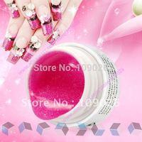 10 Colors UV Gel False Nail Art Glitter Builder Gel Kit Free shipping