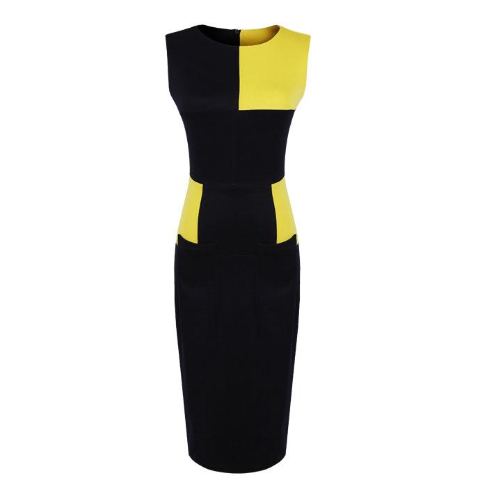 Платье из двух цветов