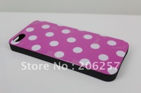 for iphone 5 case New Dots Points Soft TPU Gel Silicone Case Cover For   iphone5S, free shipping
