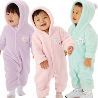 Free shipping Baby clothes autumn and winter male romper clothes and climb newborn coral fleece romper