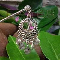 Miao silver classical tassel hair maker child handmade accessories vintage hair accessory hairpin hanfu accessories