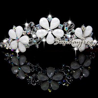 Fast Free Shipping! Gorgeous Alloy With Austria Rhinestones Wedding Bridal Tiara Headpiece -JVTN25
