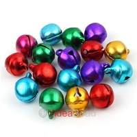 900pcs X-mas Decorations Colorful Aluminum Fish Toe Shaped Bell 10mm Merry Christmas 141449