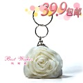 Hot sale Fashion Summer white rose bag girl bag 1930 bridal bags
