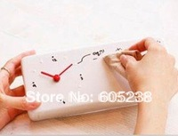 Free Shipping 8 pieces /lot  Creative novelty Memo Clock Alarm Clock With Message board