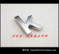 Free Shipping Floats - car sticker - garland - 3d emblem - 3d letter stickers - exquisite letter - k