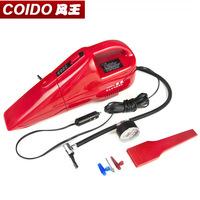 EMS Free Shipping Car air pump tire pressure gauge vacuum cleaner multifunctional one piece machine 6022
