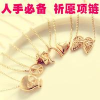 free shipping wholesale 10pcs/lot 4042 fashion accessories wishing necklace chain fashion mischa barton 1.5