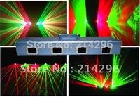 2014 Promotion Real Led Moving Head Dmx Controller Dj Controller Factory Outlet 250mw Red & Green Four Eyes Dj Laser Lighting