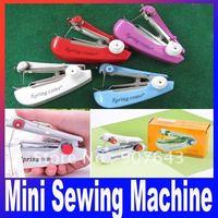 Mini Handheld Portable Clothes Fabrics Sewing Machine Free shipping
