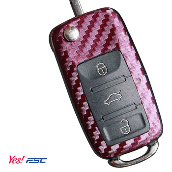 Carbon fiber vw key modified car sticker 6 suitcase polo
