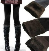 FREE SHIPPING China post air mail QD-078 Women WInter Bamboo inside Thicken Fur Leggings/Pants Hot Sale