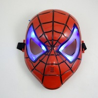 Free shipping masquerade party mask/halloween props/christmas decorations/party ornament/plastic face mask/Spiderman glow mask