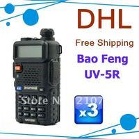 DHL Free Shipping Baofeng UV-5R Dual band Fm transceiver 1750Khz call tone with 1800mAh Li-ion Battery+Free Earphone