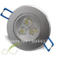 Wholesale 6PCS 3W Power LED Recessed Ceiling Down Bulb Spot White/warm Light Lamp 85-260V, Free Shipping
