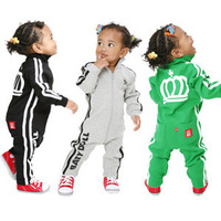 Wholesale 4pcs/lot kids sports baby cotton romper jumpsuit/baby clothes long sleeves for boys and girls