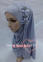 S239b fashion muslim hijab with flowers,free shipping ,$15 off per $150 order