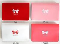 Fashion 4 Color Cute Bow Prints PVC Card Case (KG-07)