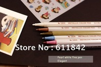 Free shipping  wholesale stationary metallic color pen/decoration paint markers for DIY/photo album/wedding/glass/pottery