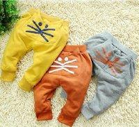 2012 autumn child 100% cotton knitted pants infant trousers baby trousers male child trousers female child harem pants
