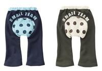 Baby big PP pants baby pp pants fart pants 100% cotton casual unisex trousers rubber band belt