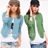 Free shipping 2013 new hot-selling foreign trade Korean autumn ladies sweater long-sleeved thickened small jacket