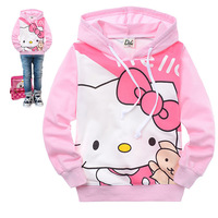 2012 autumn children's clothing cartoon HELLO KITTY kitty 100% cotton child sweatshirt autumn t-shirt