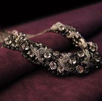 Rhinestone crystal necklace beaded chain mixed full rhinestone necklace