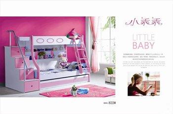 Mdf panelen kinderen bed vol stapelbed met trap lade roze kleur - Trap meubilair kind ...