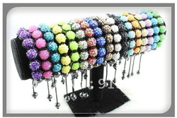 Shambala Charm Disco Ball Bead Bracelet New T-Paris Shambhala Rhinestone Crystal Fashion Jewelry Shamballa Free shipping(China (Mainland))