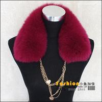 women's fox fur collar scarf